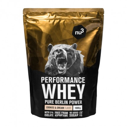 2 x nu3 Performance Whey Cookies & Cream, pulver