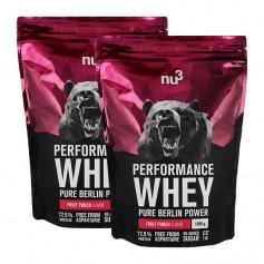 2 x nu3 Performance Whey Wildberry, Pulver