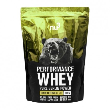 nu3 Performance Whey Lemon Buttermilk, Pulver