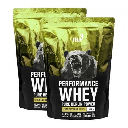 2 x nu3 Performance Whey Lemon Buttermilk, Pulver