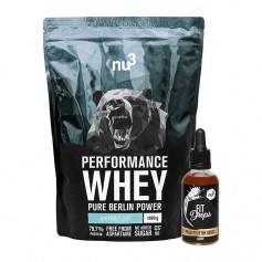 nu3 Performance Whey, Neutral + Fit Drops, Erdnussbutter-Schoko