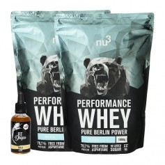 nu3 Performance Whey, Neutral + nu3 Fit Drops, Vanille