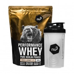 nu3 Performance Whey Cookies & Cream plus Shaker