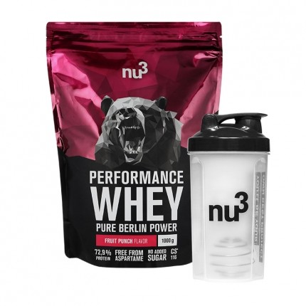 nu3 Performance Whey Wildberry plus Shaker