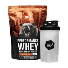 nu3 Performance Whey Chocolate plus Shaker