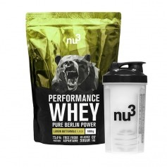 nu3 Performance Whey Lemon Buttermilk plus Shaker