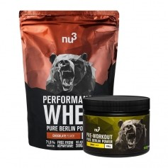 nu3 Performance Whey, Schokolade + Pre Workout Booster