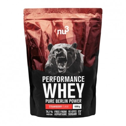 nu3 Performance Whey Strawberry, Pulver