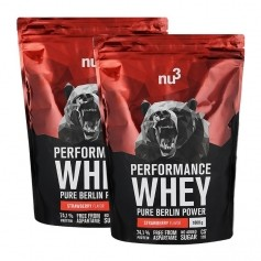 2 x nu3 Performance Whey Strawberry, Pulver