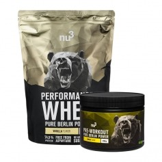 nu3 Performance Whey, Vanille + Pre Workout Booster