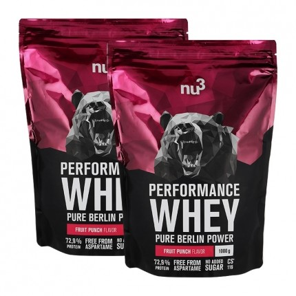 2 x nu3 Performance Whey Wildberry, Pulver