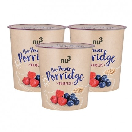 nu3 Bio Power Porridge, Wildbeere