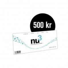 nu3 Presentkort 500 Kr