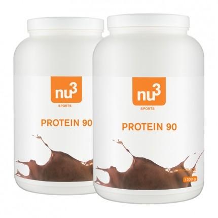 2 x nu3 Protein 90 Chocolate, Pulver