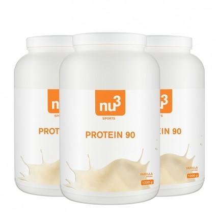 3 x nu3 Protein 90 -jauhe, vanilja