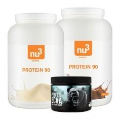 nu3 Protein 90 Vanilla und Chocolate + nu3 Power BCAA
