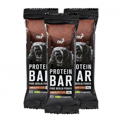 3 x nu3 Protein Bar 40% Schoko