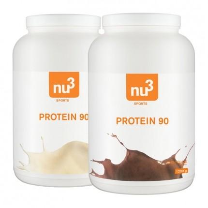 nu3, Protéine 90 chocolat + Protéine 90 vanille, poudre