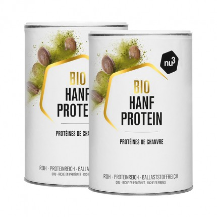 2 x nu3 Bio Hanfprotein, Pulver