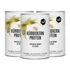 3 x nu3 PURE NATURE Bio-Kürbiskernprotein, Pulver