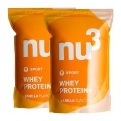 nu3, Protéine Whey +, vanille, lot de deux, poudre