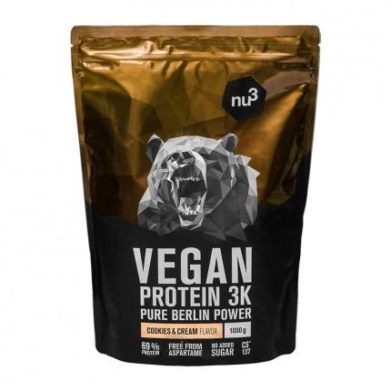 nu3 Protéines Vegan 3K, Cookies-Cream, poudre