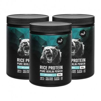 3 x nu3 rice protein powder