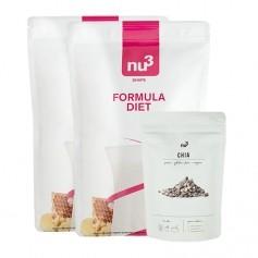 nu3 Superfood-Diät Paket: 2 x nu3 Formula Diet + nu3 Chiasamen