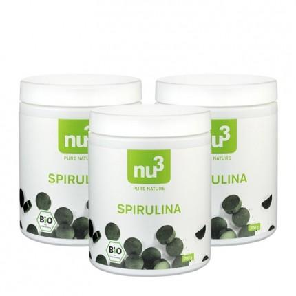 3 x nu3 Bio Spirulina, Tabletten
