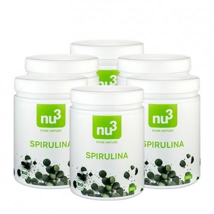 6 x nu3 Bio Spirulina, Tabletten