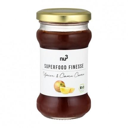 nu3 Bio Superfood Finesse, Fruchtaufstrich, Yacon-Camu Camu (240 g)