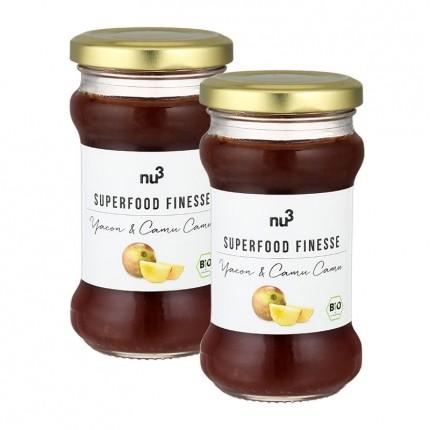 nu3 Bio Superfood Finesse, Fruchtaufstrich, Yacon-Camu Camu (2 x 240 g)