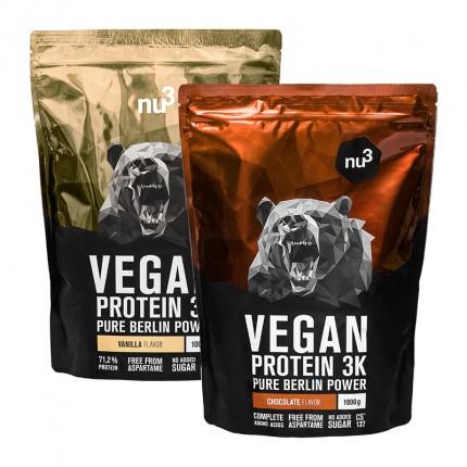 nu3 Vegan Protein 3K Probierpaket, Schoko & Van...