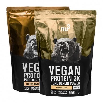 nu3 Vegan Protein 3K Probierpaket, Cookies-Crea...