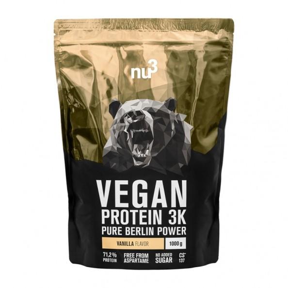 nu3 vegan protein 3k vanille veganes proteinpulver. Black Bedroom Furniture Sets. Home Design Ideas