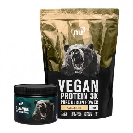 nu3 Vegan Protein 3K, Vanille + Glutamin, Kapseln