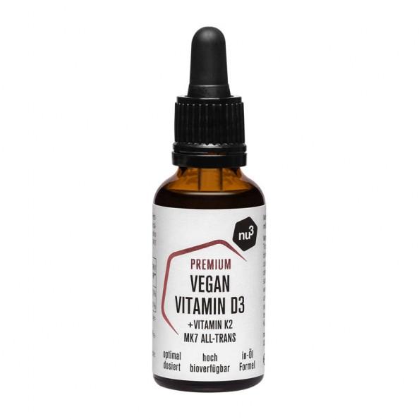 nu3 Premium Vegan Vitamina D3 + K2, gocce