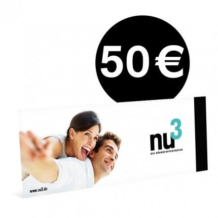 nu3 Wertgutschein 50EUR