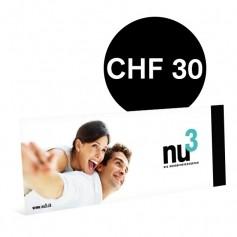 nu3-Wertgutschein 30CHF