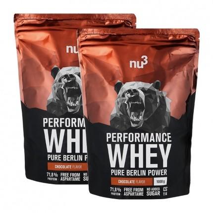 nu3, Whey Performance chocolat, poudre, lot de 2