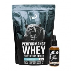 nu3 Performance Whey, Neutral + Fit Drops, Weisse Schoko-Kokos