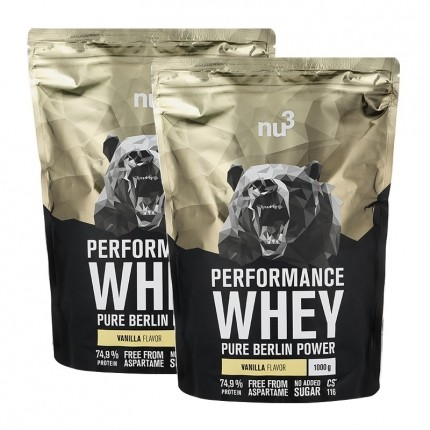 nu3, Whey Performance vanille, poudre, lot de 2