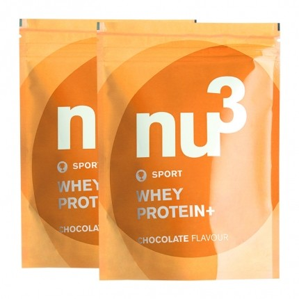 nu3 whey protein+ chocolate powder Double Pack