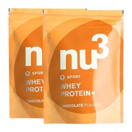 2 x nu3 Whey Protein+ sjokolade, pulver