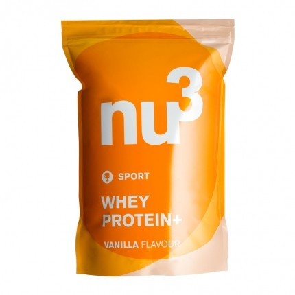 nu3 whey protein+ vanilla powder double pack
