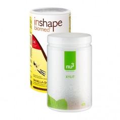 nu3 Xylit, Pulver plus InShape-Biomed® Vanilla-Shake, Pulver