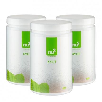 nu3, Xylitol, poudre, lot de 3