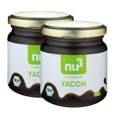 nu3, Yacon bio, sirop, lot de 2