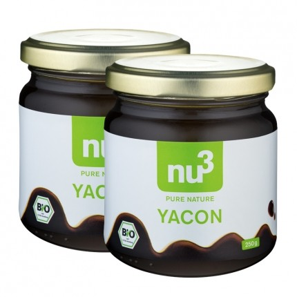 nu3 Bio Yacon, Sirup, lot de 2