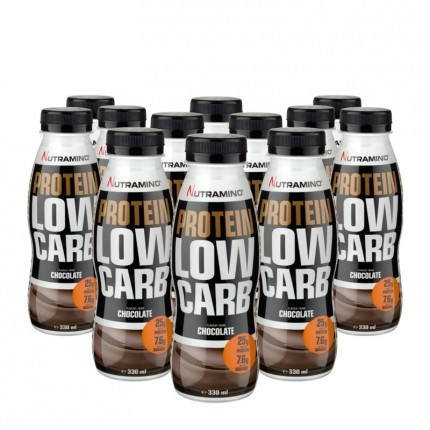 12 x Nutramino Protein Low Carb Shake Chocolate